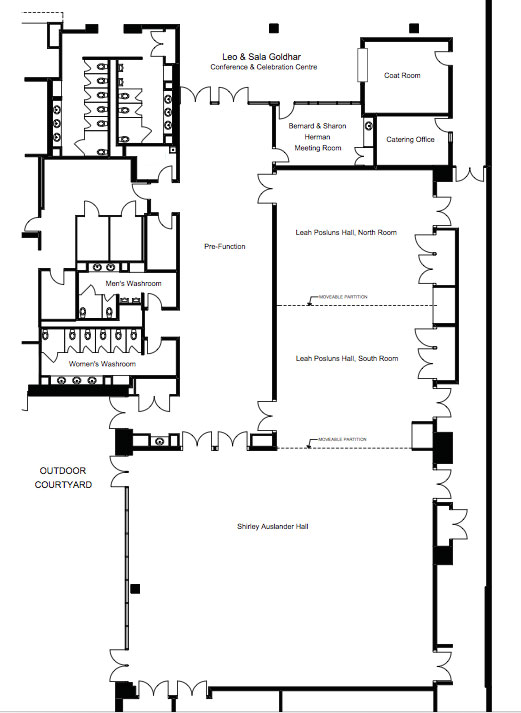 Lebovic Event Campus floor plan